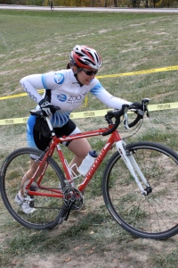 Charging through a cyclocross race.