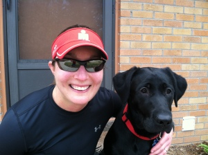 Basil and me after the run