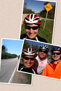 64.15 mile ride in 4 hours starting at 1:30 pm on Sunday.  It was a BEAUTIFUL day for a ride!!  We incorporated some big hill climbs (for Iowa) through the Des Moines River Valley a couple of different times.