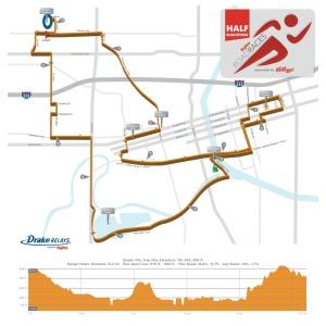 Drake 1:2 Marathon Course