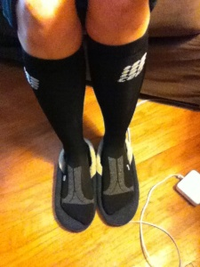 CEP recovery socks...thinking of going to recovery tights soon!!