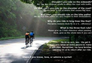 respect cyclists