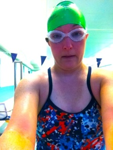 I swam 2600 yards at 5 am on Monday morning in 50 minutes.