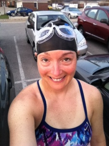 2600 yard swim at 5 am Wednesday morning...Steady 200s was the workout.  I forgot my phone in the car, hence the photo in the parking lot after my swim :)