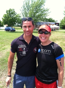 A little pre-race mojo with Crowie...professional triathlete who has won Ironman Kona 3 times