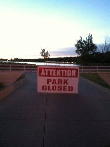 Gray's Lake was closed!!