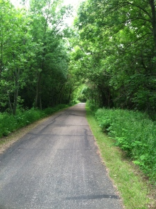 Running along the bike trail...beautiful!!