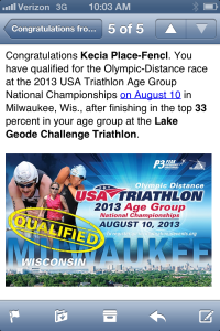 The email I received letting me know I had qualified for Nationals...WHAT?!?!?!?!?