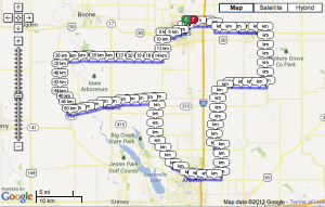 Our Century Ride route..