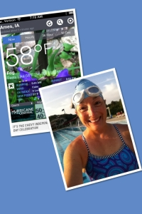 While 58 degrees at 6 am may feel a bit chilly to most people...especially when getting into the pool for an outdoor swim, it was a BEAUTIFUL morning!!  I got to enjoy swimming in the 50 meter pool, which included a 1000 meter straight swim.  I swam this 1000 meters in 20:40, which gave me an average pace of 1:53 per 100 yards.  I was pretty happy with this!!