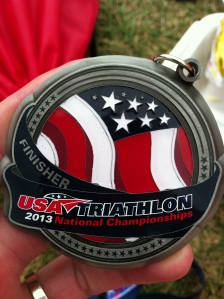 Finisher's medal...
