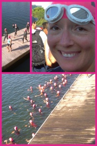 The swim start for my wave...just a few of the 200+ women in my age group.
