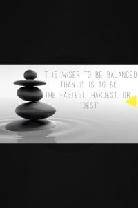 balance vs fast, hard, best