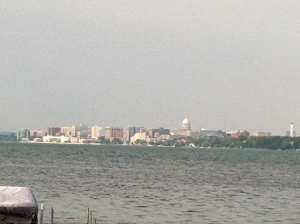 A look at downtown from across Lake Monona...