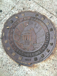 Awesome man hole covers around Madison...