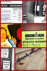 Registration morning for Ironman Wisconsin 2014.  We got in line at 4:15 am and waited until the line opened at 7:33 am (the line wasn't suppose to open until 9 am).  We were pleasantly surprised when the doors opened early!!