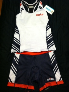 My new SOAS tri kit...LOVE,  LOVE, LOVE IT!!