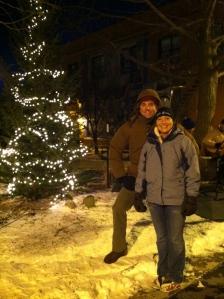 Holiday Lighting of the Christmas Tree downtown with the Iron Hippie.