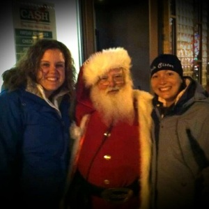 Paige and I telling Santa our Holiday wishes.