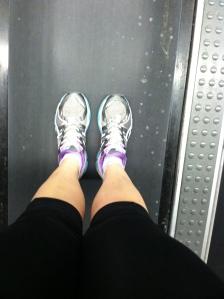 5 mile run at 4:45 am on the treadmill