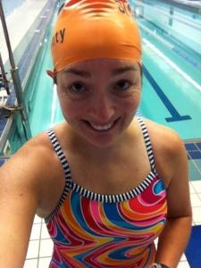 2500 yard swim at 7 am