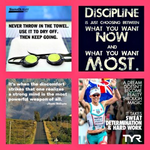 I created a collage of motivational images