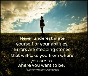 Errors are stepping stones
