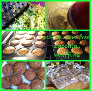 Gluten-free Zucchini muffins...the only sweetener in the recipe is agave.