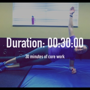 Core work completed from 7:30 to 8:00 am