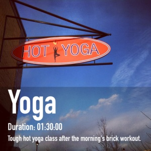 Hot Yoga completed between 4 and 5:30 pm in a nearly full 106F room