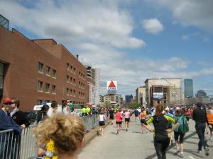 "Finally...the infamous ""Citgo"" sign near the finish line."