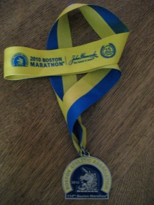 2010 Boston Marathon Finisher's Medal