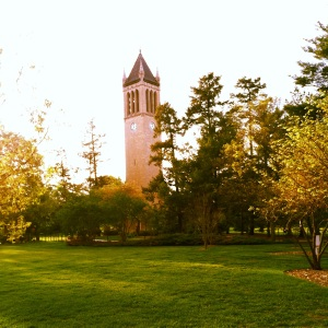 The campanile on central campus with no students...so peaceful.