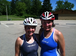 Kathy and me after the first loop.