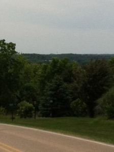 Looking back at Mt. Horab from the top of Midtown climb...You can barely see the water tower out on the horizon.