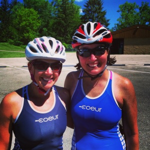 Kathy and I after the first loop...It is GREAT to meet new friends ;)