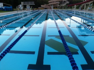 I love the 50 meter outdoor lap pool in the mornings!!