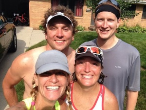 Completing a 9+ mile run with friends after a 1 hour power session on the trainer...priceless!!