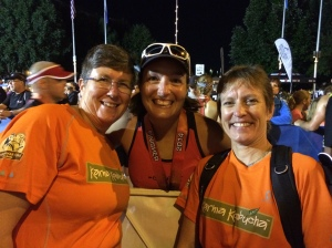 Sue and Michele with me shortly after I finished.  Photo courtesy of Lora Bierbaum.