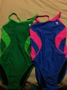 New swim suits came in the mail...now if I could just breathe so I can go use them