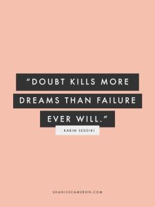 doubt vs failure