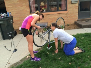 Teaching women how to do bike maintenance