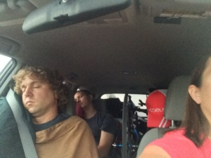 My co-pilot and navigator are sleeping.