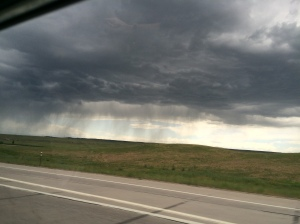 We got a bit wet as we entered Colorado again.