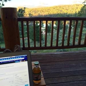 Drinking my Karma Kombucha on the deck watching the sunrise.