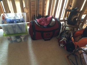 Everything is all packed up and ready to go to Estes Park.