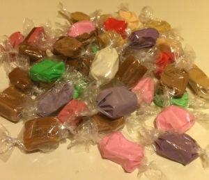 Salt water taffy for dessert...yummy!!
