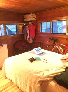My own personal room for the next 11 days...I get a break from the testosterone!!
