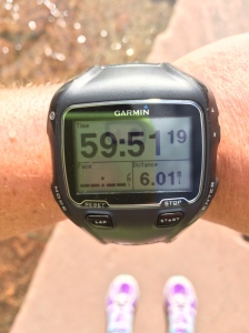 Not super fast, but I felt really great at 7500+ feet elevation :)