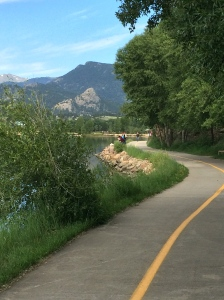 The path around Lake Estes.